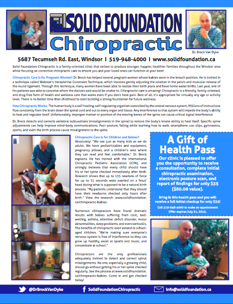 Windsor Body Children and Chiropractic Article